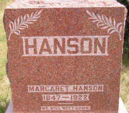 HANSON, MARGARET - Miner County, South Dakota | MARGARET HANSON - South Dakota Gravestone Photos