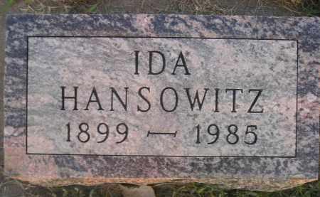 HANSOWITZ, IDA - Miner County, South Dakota | IDA HANSOWITZ - South Dakota Gravestone Photos