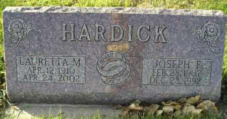 HARDICK, JOSEPH F. - Miner County, South Dakota | JOSEPH F. HARDICK - South Dakota Gravestone Photos