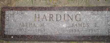 HARDING, JAMES E. - Miner County, South Dakota | JAMES E. HARDING - South Dakota Gravestone Photos