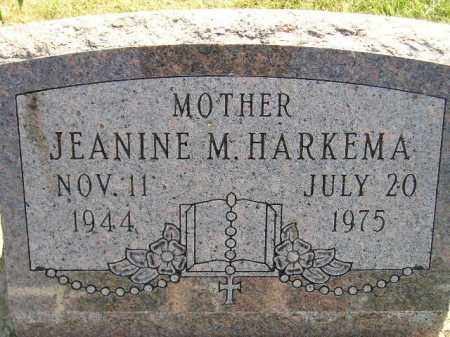 HARKEMA, JEANINE M. - Miner County, South Dakota | JEANINE M. HARKEMA - South Dakota Gravestone Photos
