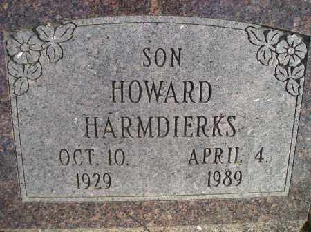 HARMDIERKS, HOWARD - Miner County, South Dakota | HOWARD HARMDIERKS - South Dakota Gravestone Photos