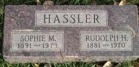 HASSLER, SOPHIE M. - Miner County, South Dakota | SOPHIE M. HASSLER - South Dakota Gravestone Photos
