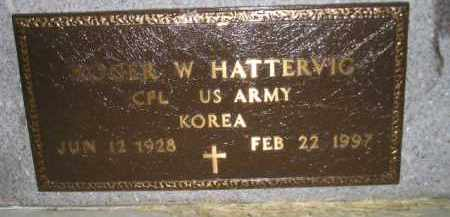 HATTERVIG, ROGER W. (MILITARY) - Miner County, South Dakota | ROGER W. (MILITARY) HATTERVIG - South Dakota Gravestone Photos