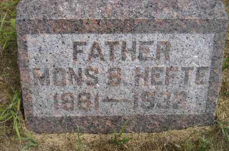 HEFTE, MONS B. - Miner County, South Dakota | MONS B. HEFTE - South Dakota Gravestone Photos