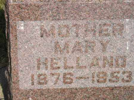 HELLAND, MARY - Miner County, South Dakota | MARY HELLAND - South Dakota Gravestone Photos