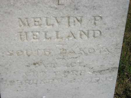 HELLAND, MELVIN P. - Miner County, South Dakota | MELVIN P. HELLAND - South Dakota Gravestone Photos