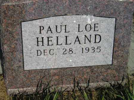 HELLAND, PAUL LOE - Miner County, South Dakota | PAUL LOE HELLAND - South Dakota Gravestone Photos