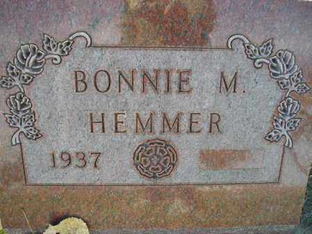 HEMMER, BONNIE M. - Miner County, South Dakota | BONNIE M. HEMMER - South Dakota Gravestone Photos