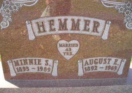 HEMMER, AUGUST E. - Miner County, South Dakota | AUGUST E. HEMMER - South Dakota Gravestone Photos