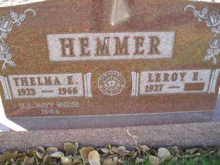 HEMMER, THELMA E. - Miner County, South Dakota | THELMA E. HEMMER - South Dakota Gravestone Photos