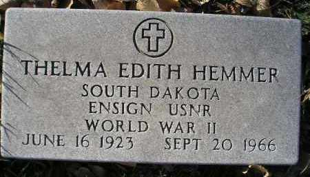 HEMMER, THELMA EDITH (WW II) - Miner County, South Dakota | THELMA EDITH (WW II) HEMMER - South Dakota Gravestone Photos