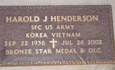 HENDERSON, HAROLD J. - Miner County, South Dakota | HAROLD J. HENDERSON - South Dakota Gravestone Photos