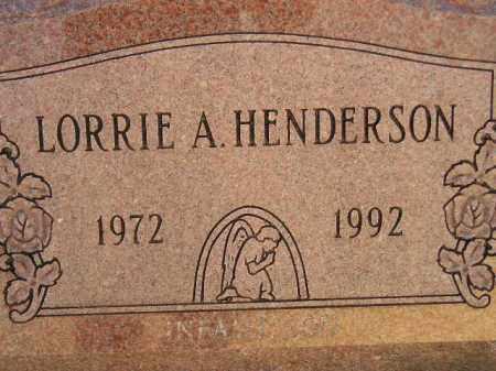 HENDERSON, LORRIE A. - Miner County, South Dakota   LORRIE A. HENDERSON - South Dakota Gravestone Photos