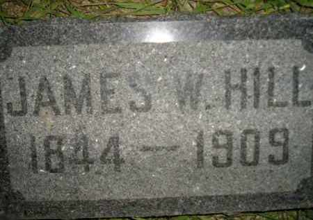 HILL, JAMES W. (STONE #2) - Miner County, South Dakota   JAMES W. (STONE #2) HILL - South Dakota Gravestone Photos