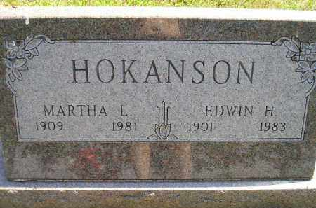 HOKANSON, MARTHA L. - Miner County, South Dakota | MARTHA L. HOKANSON - South Dakota Gravestone Photos