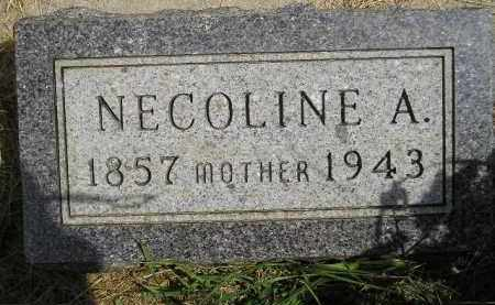 HOLTER, NECOLINE A. CLEMETSON - Miner County, South Dakota | NECOLINE A. CLEMETSON HOLTER - South Dakota Gravestone Photos
