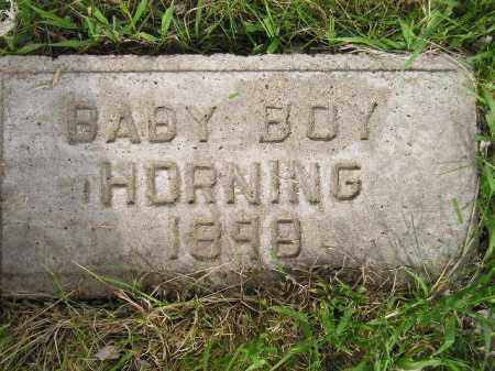 HORNING, BABY BOY 1898 - Miner County, South Dakota | BABY BOY 1898 HORNING - South Dakota Gravestone Photos