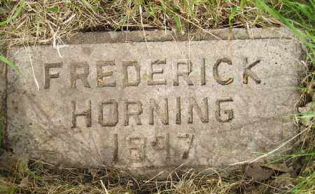HORNING, FREDERICK - Miner County, South Dakota | FREDERICK HORNING - South Dakota Gravestone Photos