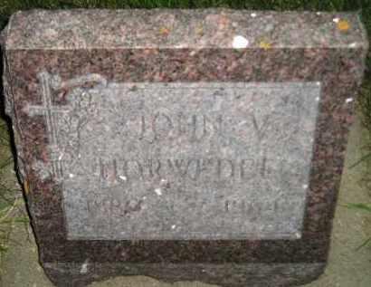 HORWEDEL, JOHN V. - Miner County, South Dakota   JOHN V. HORWEDEL - South Dakota Gravestone Photos