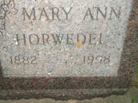 HORWEDEL, MARY ANN - Miner County, South Dakota | MARY ANN HORWEDEL - South Dakota Gravestone Photos