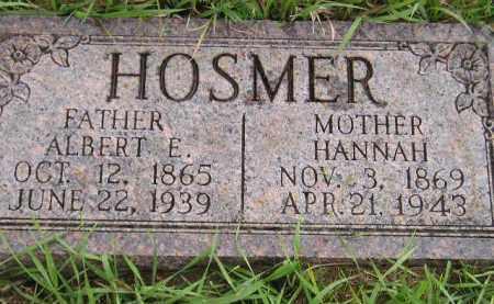 HOSMER, ALBERT E. - Miner County, South Dakota | ALBERT E. HOSMER - South Dakota Gravestone Photos