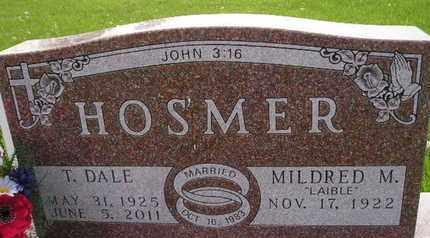 HOSMER, T DALE - Miner County, South Dakota | T DALE HOSMER - South Dakota Gravestone Photos