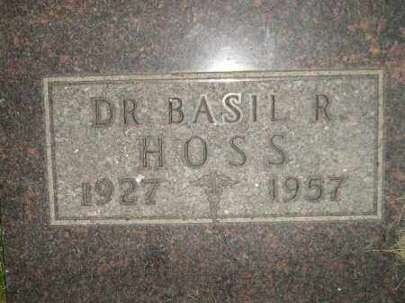 HOSS, BASIL R. (DR.) - Miner County, South Dakota | BASIL R. (DR.) HOSS - South Dakota Gravestone Photos