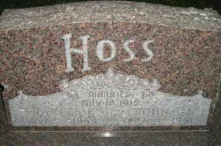 HOSS, JOHN G. - Miner County, South Dakota   JOHN G. HOSS - South Dakota Gravestone Photos