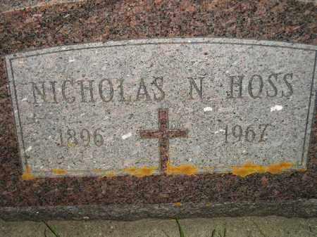 HOSS, NICHOLAS N. - Miner County, South Dakota | NICHOLAS N. HOSS - South Dakota Gravestone Photos