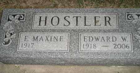 HOSTLER, EDWARD W. - Miner County, South Dakota | EDWARD W. HOSTLER - South Dakota Gravestone Photos