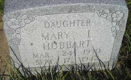 HUBBART, MARY L. - Miner County, South Dakota   MARY L. HUBBART - South Dakota Gravestone Photos