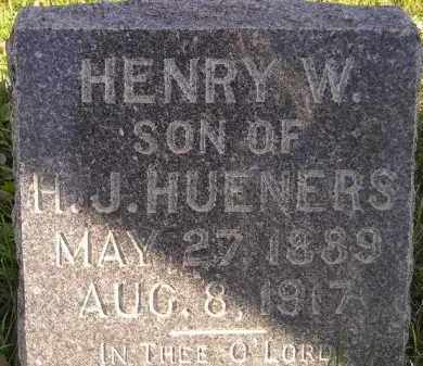 HUENERS, HENRY W. - Miner County, South Dakota | HENRY W. HUENERS - South Dakota Gravestone Photos