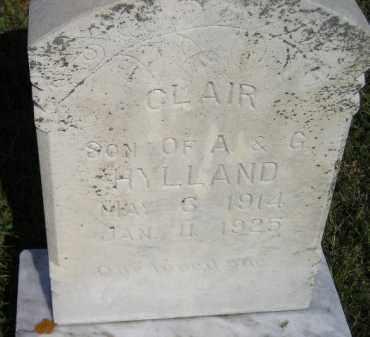 HYLLAND, CLAIR - Miner County, South Dakota | CLAIR HYLLAND - South Dakota Gravestone Photos