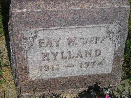 "HYLLAND, FAY W. ""JEFF"" - Miner County, South Dakota 