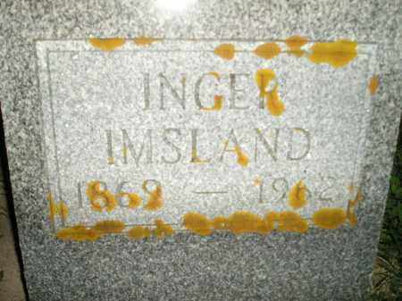 IMSLAND, INGER - Miner County, South Dakota | INGER IMSLAND - South Dakota Gravestone Photos