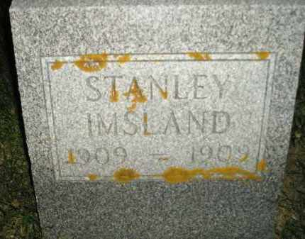 IMSLAND, STANLEY - Miner County, South Dakota | STANLEY IMSLAND - South Dakota Gravestone Photos