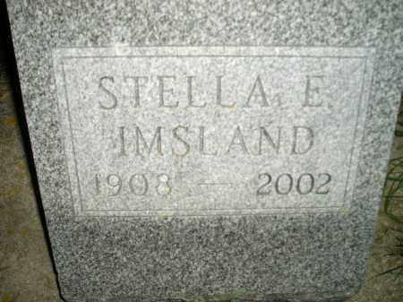 IMSLAND, STELLA E. - Miner County, South Dakota | STELLA E. IMSLAND - South Dakota Gravestone Photos