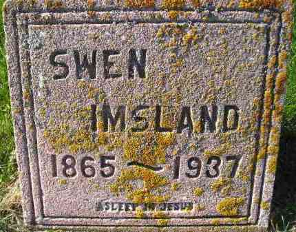 IMSLAND, SWEN - Miner County, South Dakota | SWEN IMSLAND - South Dakota Gravestone Photos