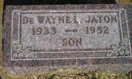 JATON, DE WAYNE I. - Miner County, South Dakota | DE WAYNE I. JATON - South Dakota Gravestone Photos