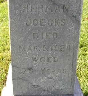 JOECKS, HERMAN - Miner County, South Dakota | HERMAN JOECKS - South Dakota Gravestone Photos