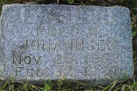 JOHANNSEN, FRED W. - Miner County, South Dakota | FRED W. JOHANNSEN - South Dakota Gravestone Photos
