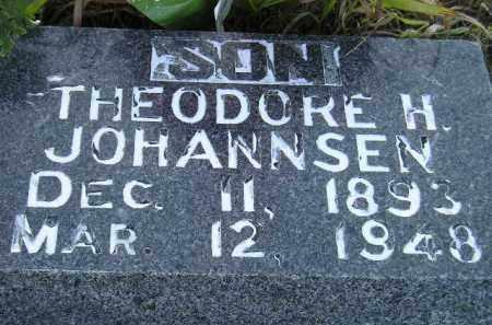 JOHANNSEN, THEODORE H. - Miner County, South Dakota | THEODORE H. JOHANNSEN - South Dakota Gravestone Photos