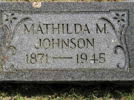 JOHNSON, MATHILDA M. - Miner County, South Dakota   MATHILDA M. JOHNSON - South Dakota Gravestone Photos