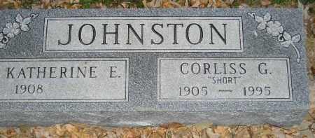 "JOHNSTON, CORLISS G. ""SHORT"" - Miner County, South Dakota | CORLISS G. ""SHORT"" JOHNSTON - South Dakota Gravestone Photos"