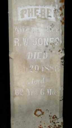 JONES, PHEBE - Miner County, South Dakota | PHEBE JONES - South Dakota Gravestone Photos