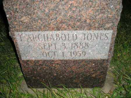 JONES, T. ARCHABOLD - Miner County, South Dakota | T. ARCHABOLD JONES - South Dakota Gravestone Photos