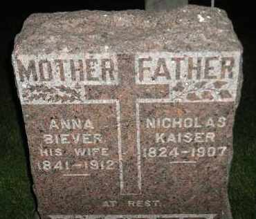 BIEVER KAISER, ANNA - Miner County, South Dakota | ANNA BIEVER KAISER - South Dakota Gravestone Photos