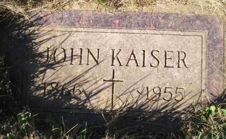 KAISER, JOHN - Miner County, South Dakota | JOHN KAISER - South Dakota Gravestone Photos