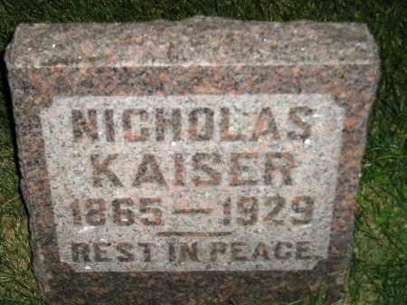 KAISER, NICHOLAS - Miner County, South Dakota | NICHOLAS KAISER - South Dakota Gravestone Photos